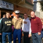 Corporal Joseph Foley '12 Welcomed Home from Deployment in Bahrain