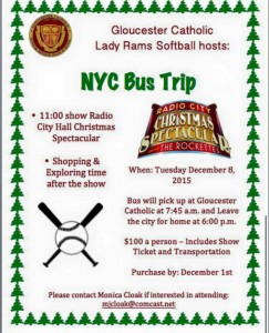 Lady Rams Softball Team Sponsors New York City Bus Trip