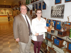 Madison Eller Receives Award of Excellence from Congress of Future Science and Technology Leaders
