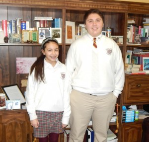 Junior High Students of the Month Selected