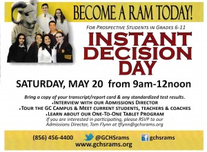 Become a Ram Today! GC Instant Decision Day Set for May 20th