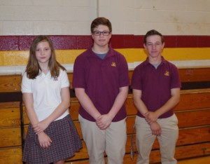 Gloucester Catholic Annouces Students of Month for May 2017