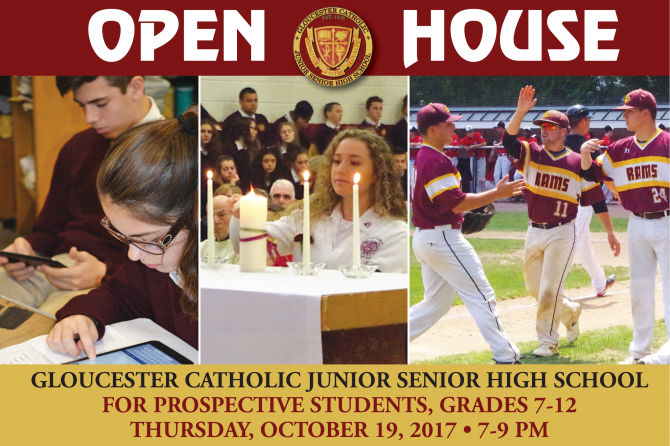 Save the Date: Gloucester Catholic Open House Slated for October 19
