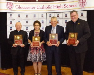 GCHS Friends and Alumni Nick Calio, Fr. Dan Joyce, Rev. Vincent O'Malley, Diane Brenner Honored