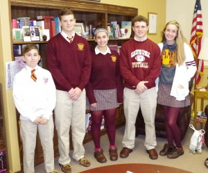 Gloucester Catholic Announces Students of Month for September and October