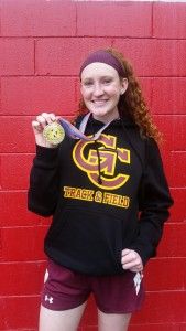 Lady Rams' Meghan McGonigle Racks Up Gold in High Jump Events!