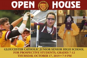 Save the Date: Gloucester Catholic Open House Slated for October 17